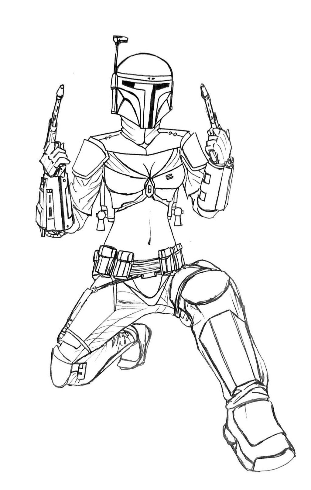 Coloring pages jango fett mask coloring pages for Jango fett coloring pages